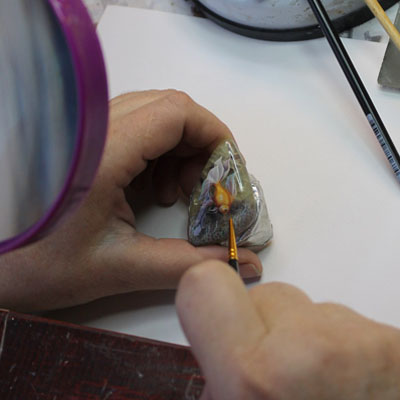Купить кабошоны, Vida Milut Art, рисунок на камнях