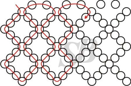Сетка-основа на 2,5 ромба