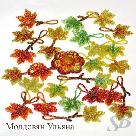 схемы вязания узоры листья