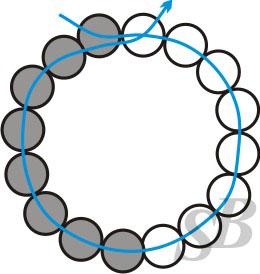 спиральный мозаичный жгут