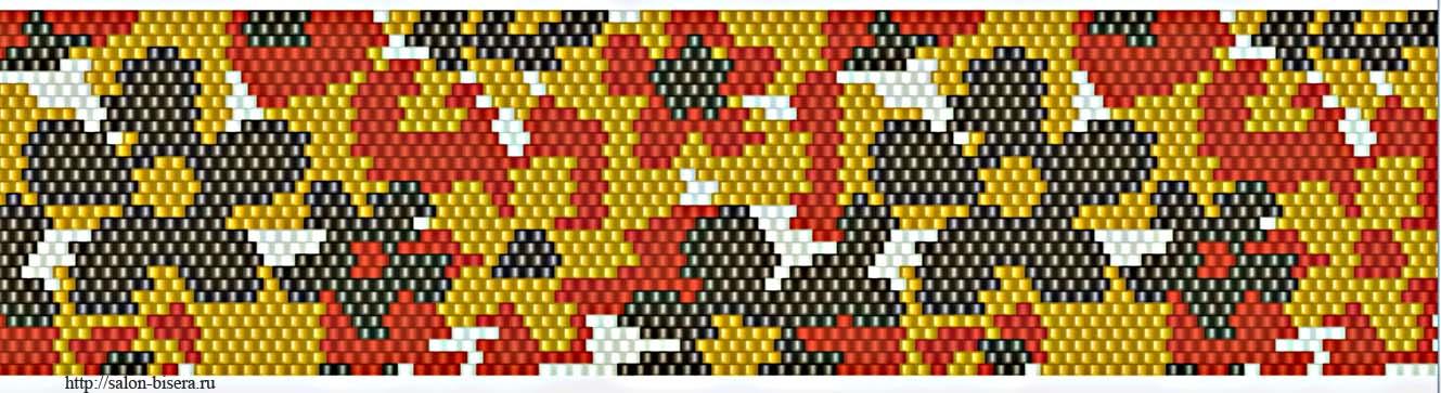 мозаичного плетения.